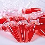 ISOLAB - Tubos de microcentrífuga de 1,5 ml, (paquete de 500), micro tubos de ensayo graduados con tapa a presión, neutro, tubo de vial de PP, recipiente de almacenamiento