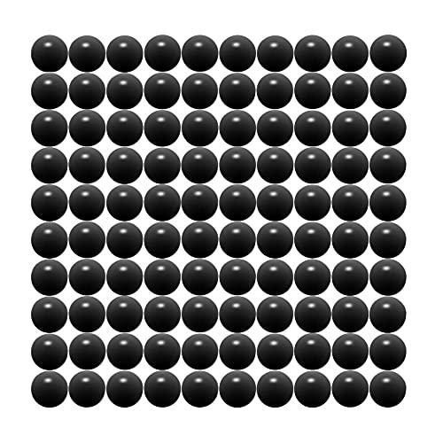 68 Cal Paintballs Jawbreaker Solid Balls - Self Defense Nylon, Less Lethal Practice Paintballs .68 Caliber - Black (100 Count) 3.5 Gram