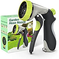 Kesfitt Zinc Alloy Garden Hose Sprayer Nozzle with 8 Adjustable Patterns