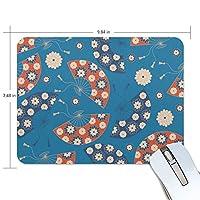 ユキオ(UKIO) マウスパッド おしゃれ 防水 滑り止め かわいい 使いやすい 北欧 扇子 女性 リストレスト マウス PCアクセサリ 男性