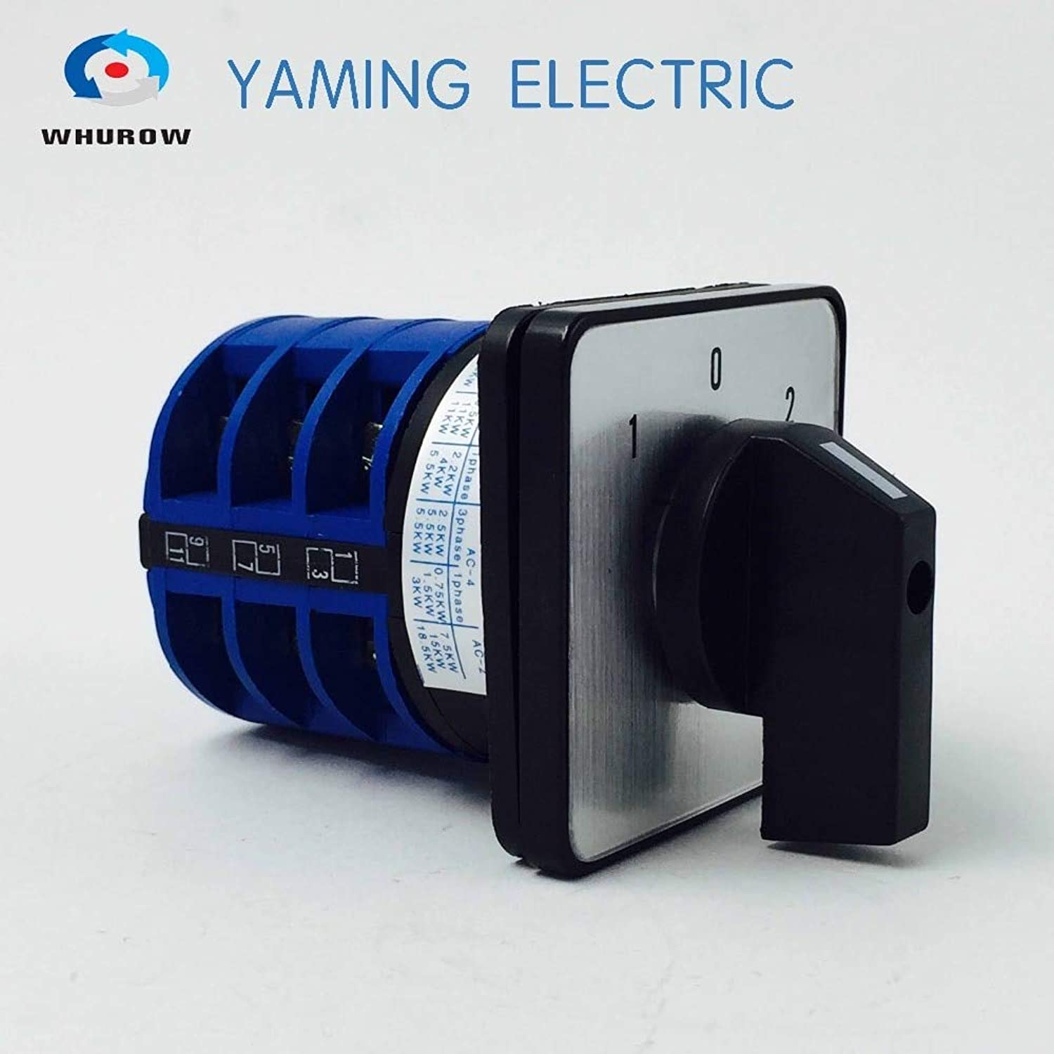 1pcs redary Switch 3 Position 660V 32A 3 Phases Electrical Changeover cam Switch YMW2632 3  (color  blueee)