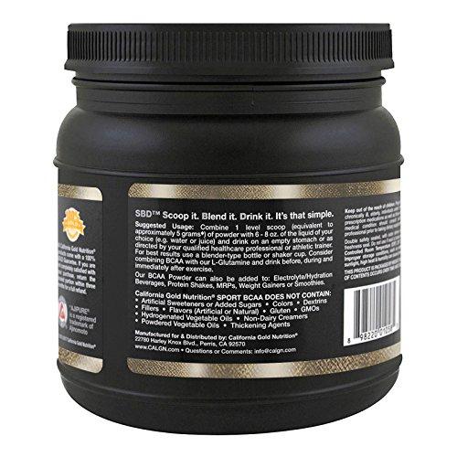California Gold Nutrition ピュアBCAA 味の素 AjiPure®アミノ酸で特別製造 ノンフレーバー 454g [0585]