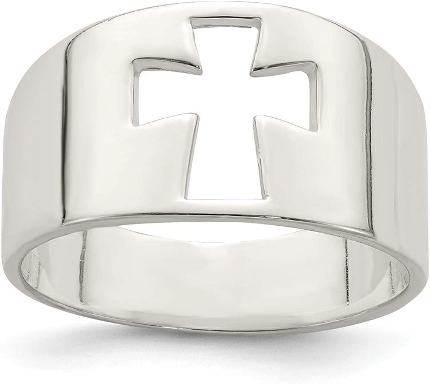 Beautiful Sterling silver 925 sterling Sterling Silver Cross Cutout Ring