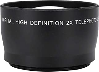 Camera Lens,55mm 2X Magnification HD Professional Telephoto Conversion Lens,Waterproof Tele Converter Telephoto Lens for 5...