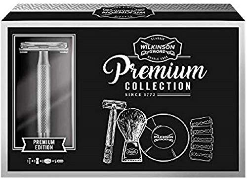 Wilkinson Sword Kit de Afeitado Clásico Manual para Hombres,...