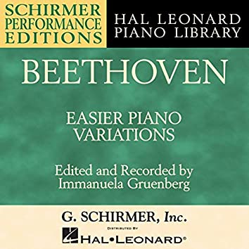 Beethoven: Easier Piano Variations