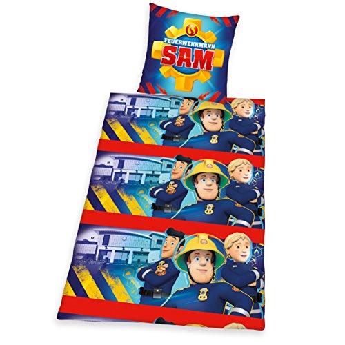 Herding Bettwäsche Kinderbettwäsche Feuerwehrmann Sam Flanell 135 x 200 cm