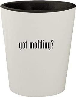 got molding? - White Outer & Black Inner Ceramic 1.5oz Shot Glass