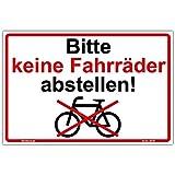Schild'Bitte keine Fahrräder abstellen' Hinweisschild 210x140 mm stabile Aluminiumverbundplatte 3mm stark