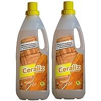Cera para suelos parquet, tarima flotante y madera barnizada PACK X 2 unidades Ceraliz 1000ml