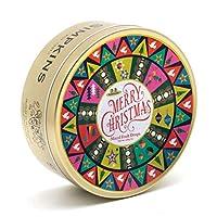 Simpkins クリスマスレトロフェスティブパターンミックスフルーツドロップス200g Christmas Retro Festive Pattern Mixed Fruit Drops 200g Tin