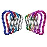 OMUKY D-Anneau Mousqueton Boucle Multifonctionnel De Plein Air des Sports Mousqueton Clip Carabiner Aluminium (10 Couleurs)