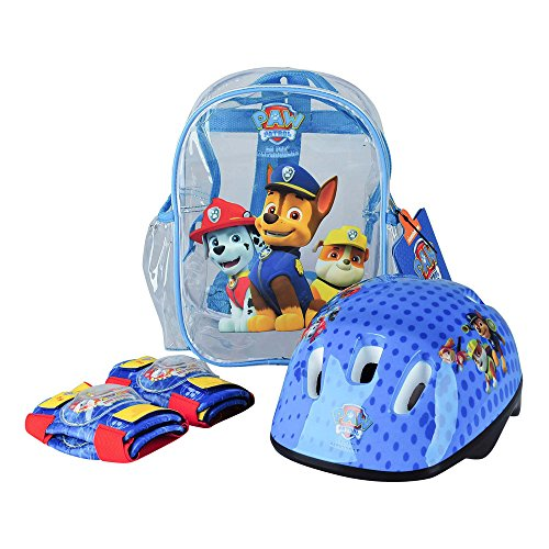Paw Patrol OPAW004 - Protection Set, Helmet, Knee padselbow Pads, PVC transparent Bag