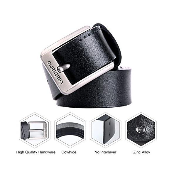 51QQMvzonML. SS600  - Leathario Hombres Cinturón de Cuero Correa Cinturones de Piel Diseñado para caballero
