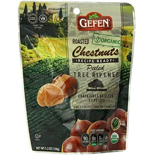afa718a2c672 Gefen Organic Whole Roasted and Peeled Chestnuts 5.2oz (4 Pack)