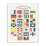 El Stupell Home Décor Collection náuticas Bandera Alfabeto para Pared Art, Madera, 25.4 x 1.27 x 38.1 cm