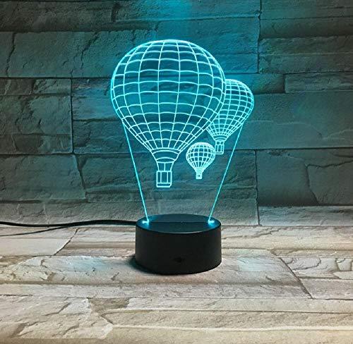 Globo de aire caliente 3D lámpara iluminación mesa de estado de ánimo luz de la noche multicolor táctil remoto luminaria cambio Babyroom decorativo