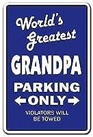 World'S Greatest Grandpa Grandchildren 注意看板メタル安全標識壁パネル注意マー表示パネル金属板のブリキ看板情報サイン