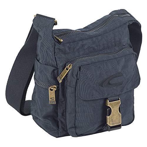 camel active, Journey, Umhängetasche Unisex S, Schultertasche, Handtasche, Viele Steckfächer, Sicherheitsreißverschlussfach, Dunkelblau, 20x8,5x23, cm