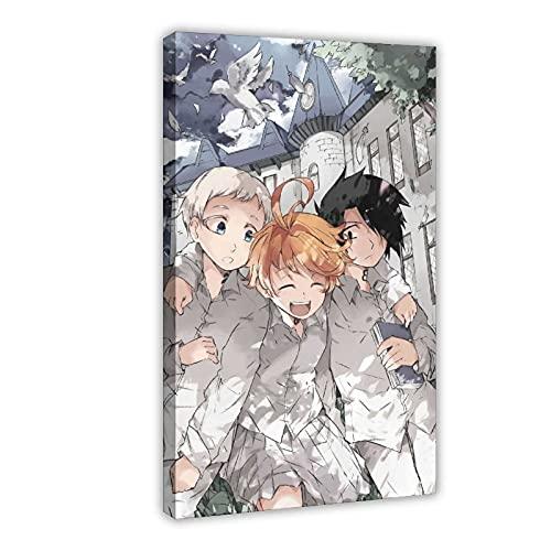Poster in tela anime The Promised Neverland 9, decorazione per camera da letto, sport, paesaggio, ufficio, decorazione della stanza da regalo, 60 x 90 cm