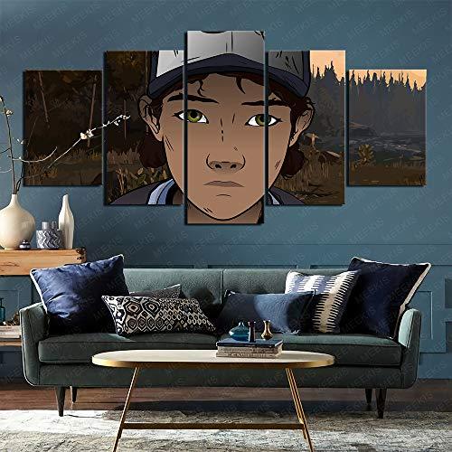CAFO Leinwand Wandkunst Bilder 5 STK. The Walking Dead Staffel 2 Hoteldekoration 100x50cm Rahmenlos