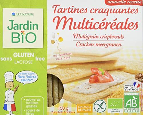 Jardin BiO étic Tartines craquantes Multicéréales sans gluten