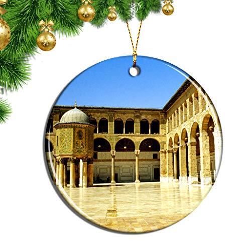 Hqiyaols Ornament Palacio Azm Damasco Siria Navidad Adornos Colgantes Pieza Cerámica Recuerdo Ciudad Viaje Regalo