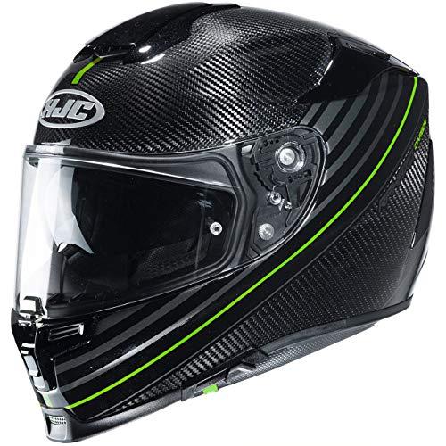 HJC Helmets Motorradhelm HJC RPHA 70 CARBON ARTAN MC4H, Schwarz/Gelb, L, 14280409