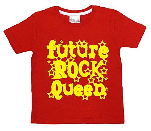 Dirty Fingers Future Rock Reine, bébé T-shirt - Rouge - XS