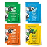 Baja Beef Jerky Sampler Pack | Keto Friendly, Gluten Free, Low Calorie Craft Jerky | 25g Protein, 100% All-Natural Beef, No Nitrates | 8 pack 2.5 Oz Bags