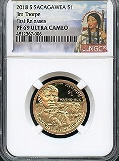 2018 S Native American (Sacagawea/Golden) Jim Thorpe Inspired Design Dollar PF69 NGC