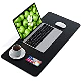 AMERIERGO Dual-Sided Desk Pad - 31.5 Inch x 15.7 Inch Desk Mat, PU Leather Waterproof Desk Cover Protector, Non-Slip Desk Writing Mat for Office & Home