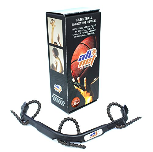 AllNet Basketball Shooting Aid Hoops Training Shooting Device, Help Improve Your Skills & Shot with Finger Trainer no Gloves Shoot NBA PRO Level, Fix Bad Habits with Proper Grip & Form Muscle