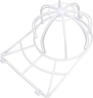 freneci 野球帽ハットウォッシャー収納ハットホルダーなし大人/キッズハットラックフレームなし洗濯機洗濯機クリーナー洗濯ケージシェイパープロテア - 白い, 35x22x13.5cm