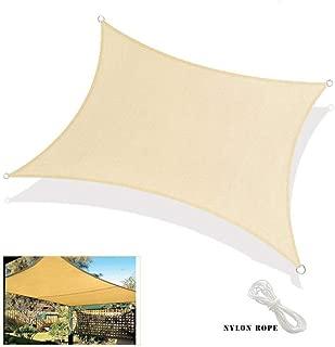 FLR 9.8x13Ft Outdoor Sun Shade Sail Canopy Heavy Weight Rectangle Shade and Beyond Sun Shade Sail UV Block Covers for Patio Lawn Deck Garden Pergola Veranda
