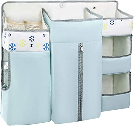 Wenzhihua Bed Hanging Organizer Baby Nursery Hanging Organizer  Baby Diaper Caddy Organizer  Hanging Diaper Organization Storage For Baby Crib  Changing Table For Baby Cot Bunk Bed