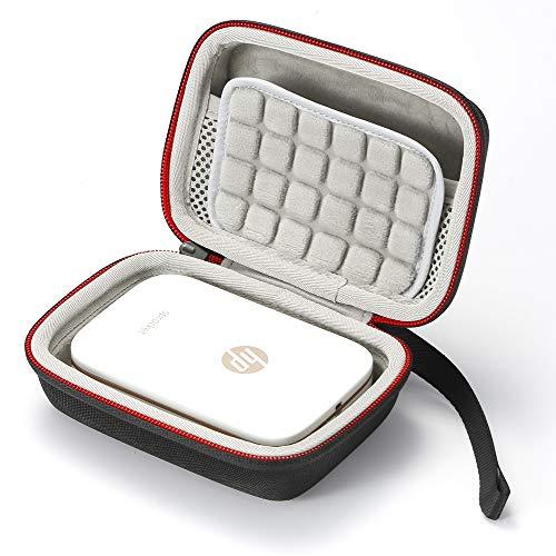 Estuche rígido para la Impresora fotográfica portátil HP Sprocket - Bolsa Protectora de Viaje con Bolsa de Viaje - Negro