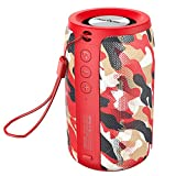 Wireless Bluetooth Speakers Zealot S32 Portable Speaker IPX5 Waterproof HD Calls/Micro SD Card/U Disk/Line-in Modes Competible for iOS Andriod -Red