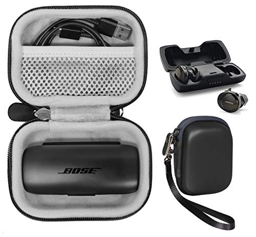 Wireless Ear Buds Protective case for Bose SoundSport Free Wireless Sport Headphones , Mesh Accessories Pocket, Compact and Light Weight Strong case, Easy Carrying Finger Strap