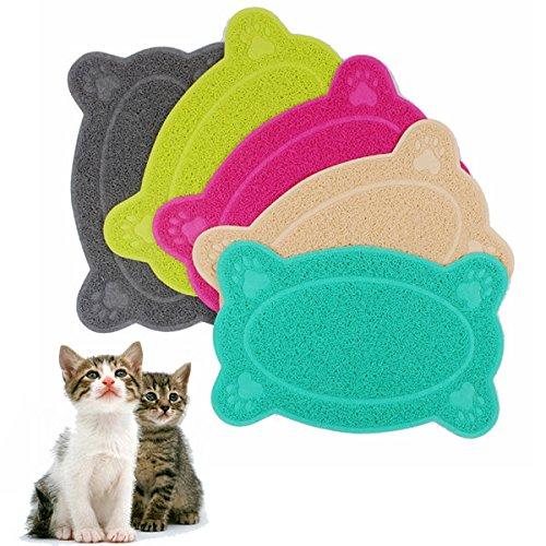 Bargain World Dog Puppy Bone Shape Placemat Pet Cat Dish Bowl Feeding Food Mat