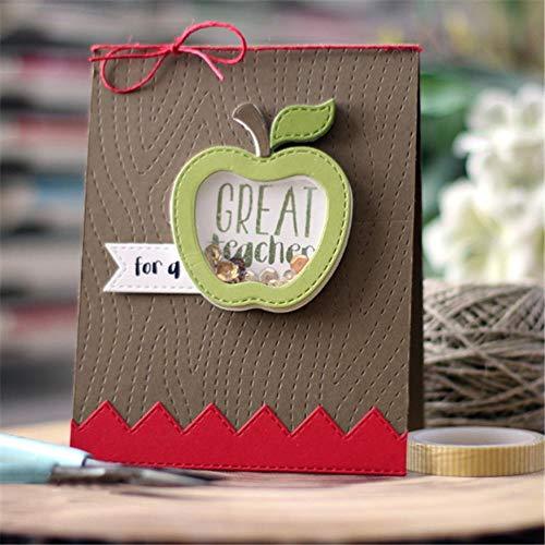Manzana metal troqueles de corte para Scrapbooking 4 piezas Craft Dies Nuevo...