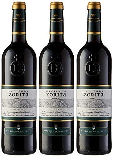 Hacienda Zorita Crianza Vino tinto - 3 botellas x 750 ml - 2250 ml