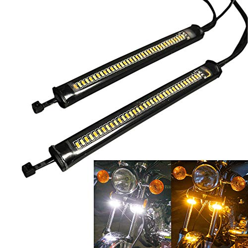 Discover winds バイク フロントフォーク LED デイライト シーケンシャル ウインカー カスタム ドレスアッ...