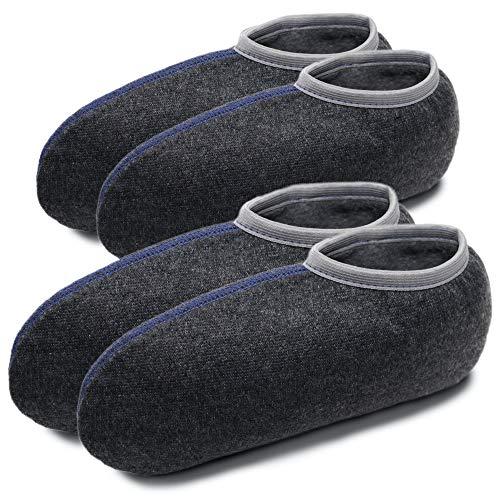 NewwerX 2 Paar Stiefelsocken für Gummistiefel, Gummistiefelsocken mit Wolle, Roßhaarsocken (43/44)