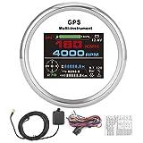 Seacanl Velocímetro GPS Tacómetro, Velocímetro GPS Cuentakilómetros, Digital para Yates