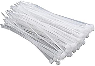Ulifestar Cable Ties, Nylon Self Locking Zip Ties Strong Industrial Grade Multi-Purpose Cord Wire Straps Organizing in Home,Office,Garden,Indoor & Outdoor,White (10 inch)