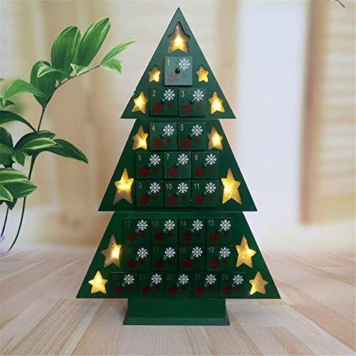 SQL aftellen tot kerstboom houten adventskalender, magnetische boom, met 24 dagen lade, geweldig cadeau voor meisjes en jongens