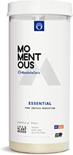 Sponsored Ad - Momentous Essential Plant-Based Pea and Rice Protein Powder, 20 Servings Per Jar for Essential Everyday Use...