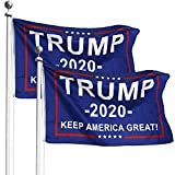 Donald Trump for President 2020 Keep America Great Banner Go Trump 2020 Flags 3x5 Feet with Grommets (2 Pack)
