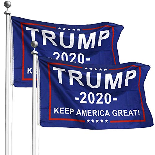 Donald Trump for President 2020 Keep America Great Flag 3x5 Feet with Grommets (2 Pack)